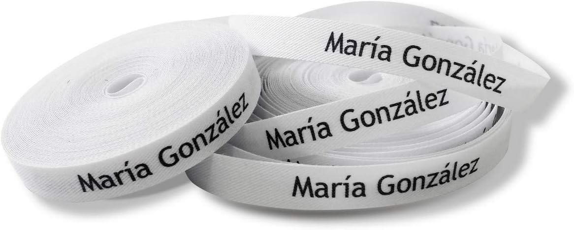 100 ETIQUETAS DE TELA PARA MARCAR LA ROPA (PLANCHAR) CINTA TERMOADHESIVA PARA GUARDERIAS, ESCUELAS, COLEGIOS Y RESIDENCIAS. ETIQUETAS PERSONALIZADAS CON CERTIFICADO ECOLÓGICO