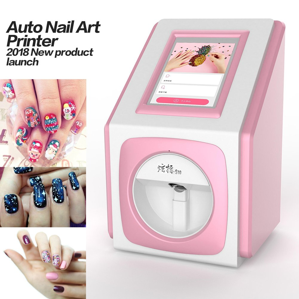 Digital Nail Art Printer Painting Machine 79inch Touch Screen Smart Phone Control Wireless WiFi Signal Pack Of Gel Polish Amazonca