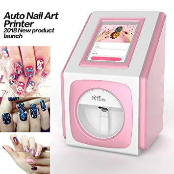 Digital Nail Art Printer Painting Machine 79inch Touch Screen Smart Phone Control Wireless
