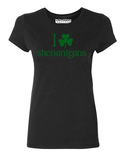 044c62d0b Amazon.com: Promotion & Beyond I Shamrock Shenanigans, ST Patrick's Day  Women's T-Shirt: Clothing