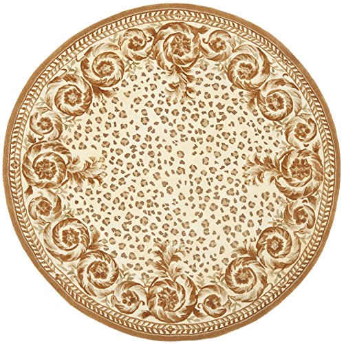 UPC 683726248910, Safavieh Naples Collection NA702A Handmade Ivory and Gold Wool Round Area Rug, 4 feet in Diameter (4' Diameter)