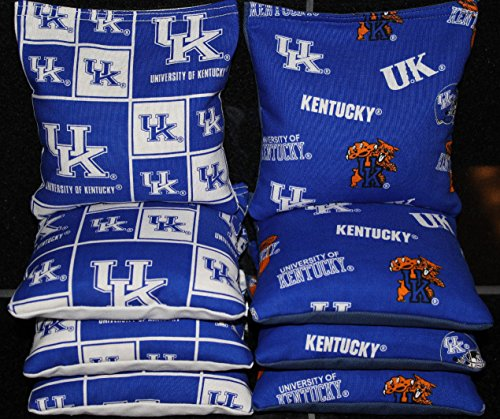 BackYardGamesUSA 8 All Weather Cornhole Bags Made w UK University of Kentucky Wildcats Fabric