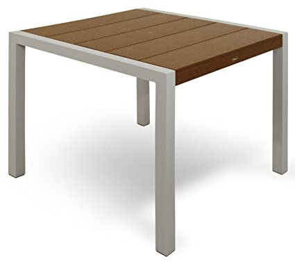 Trex Outdoor Furniture TX8110 11TH Surf City Dining Table, 36 Inch, Textured