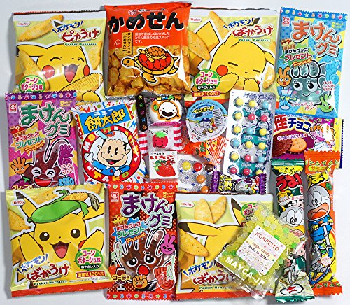 Assorted Japanese Candy Snack Senbei Dagashi Bundle 20...