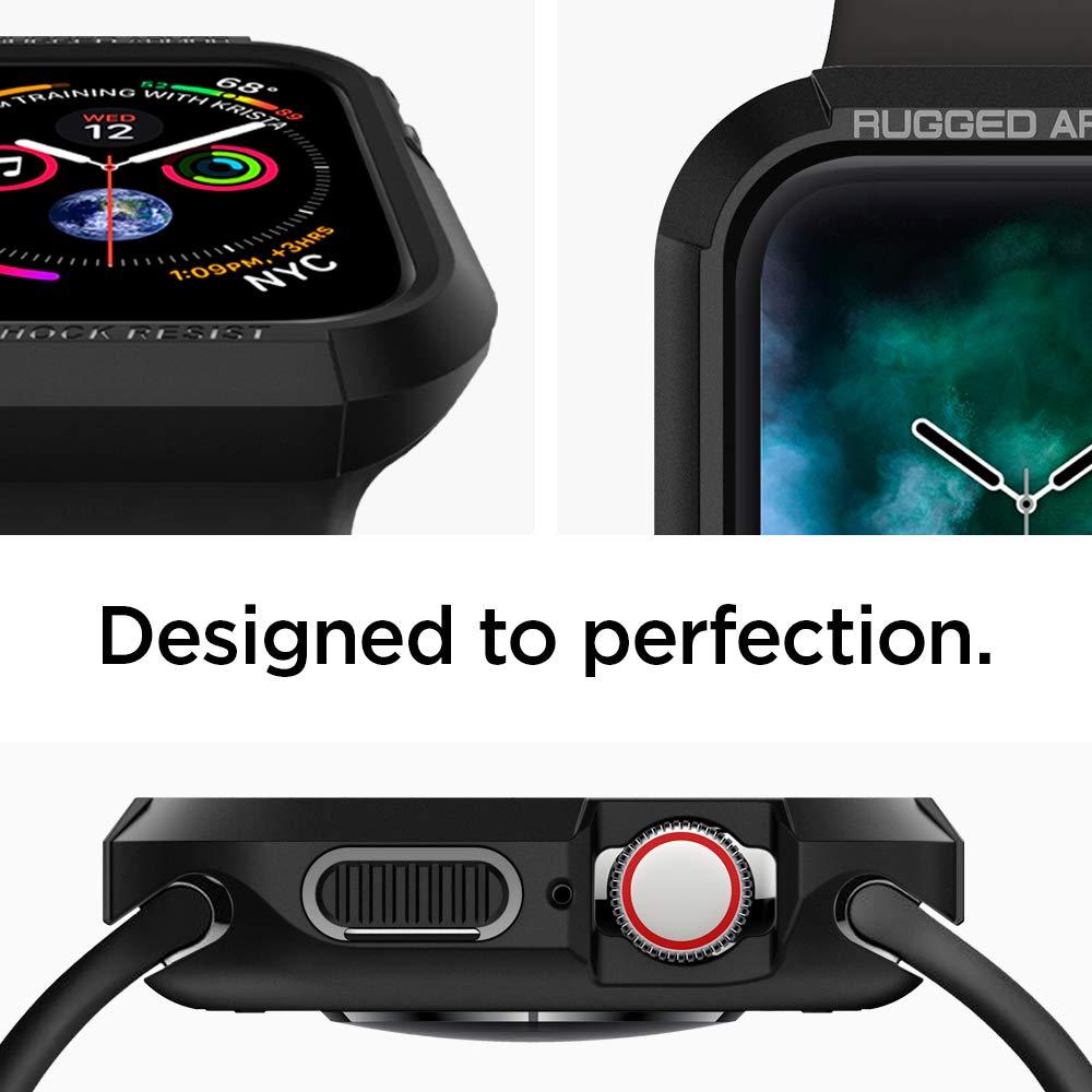 Spigen Rugged Armor Works with Apple Watch Case for 44mm Series 4 (2018) - Black by Spigen (Image #3)