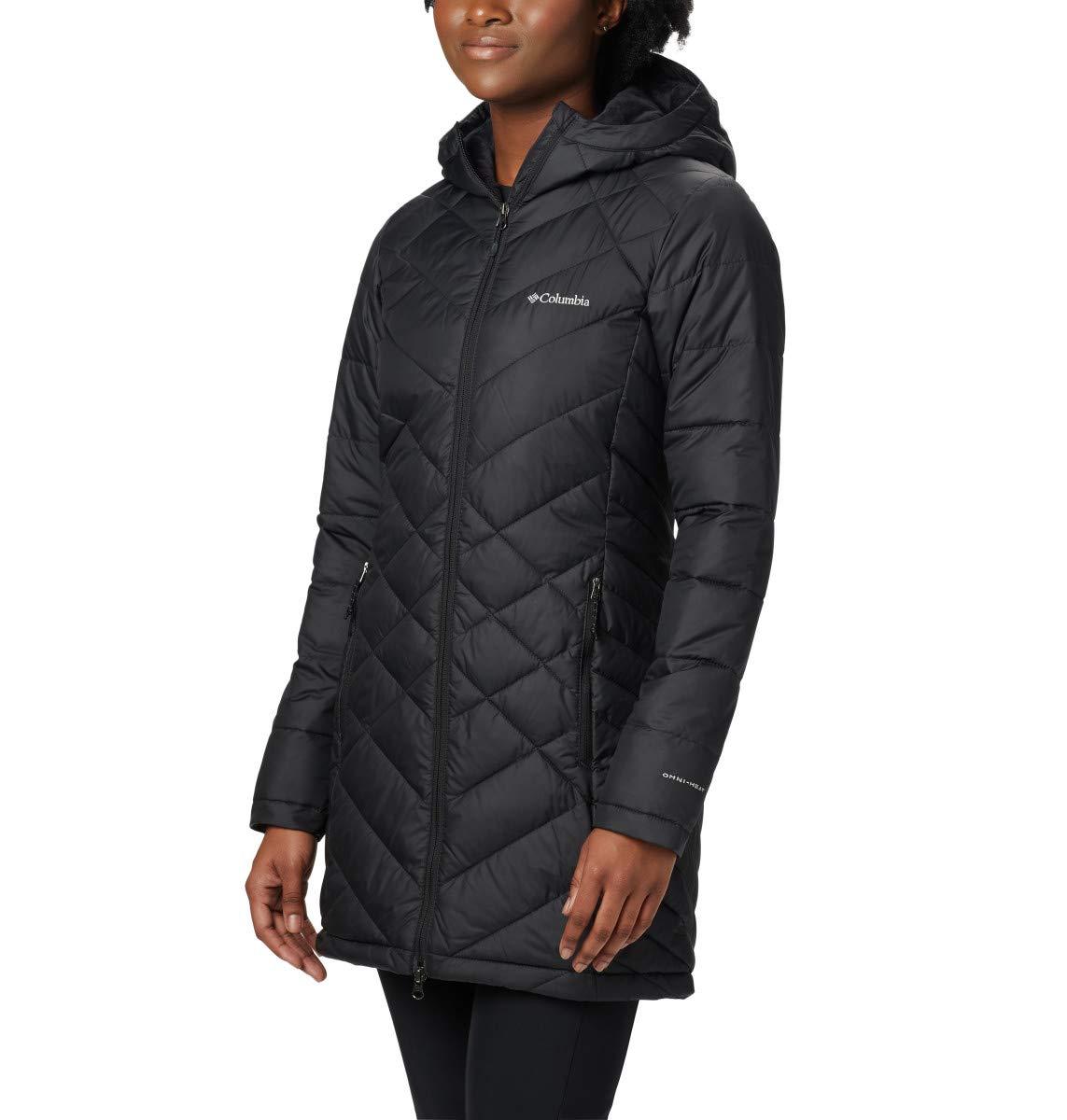 Columbia Women's Standard Heavenly Long Hooded Jacket, Black, Medium by Columbia