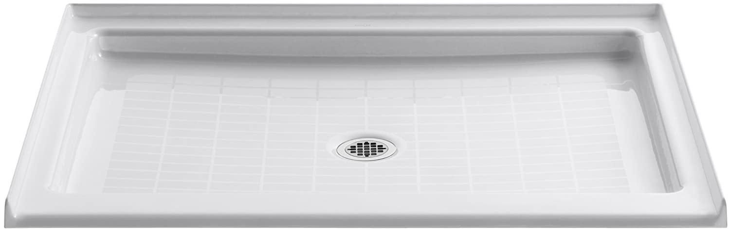 KOHLER K 9026 NY Purist 48 Inch X 36 Inch Single Threshold Center Drain Shower  Base, Dune     Amazon.com