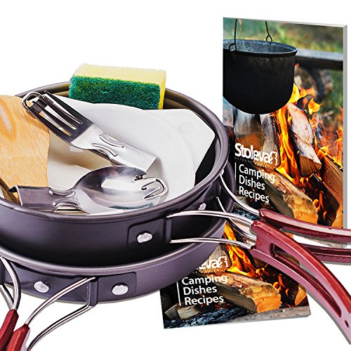 Camping Cookware Mess Kit Outdoors Bug Out Bag