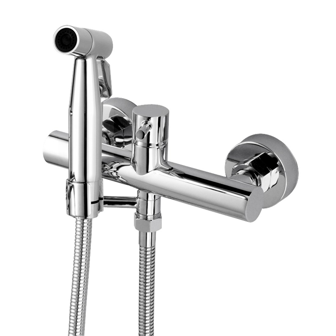 Bidet Wall Warm Water Stainless Steel Faucet Sprayer Attachment For Toilet mixed Bidet Faucet With Hot And Cold Water Single Handle Wall Mount Bidet Sprayer