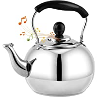 DclobTop Stove Top Whistling Tea Kettle 2.5 Quart Classic teapot appearance Culinary Grade Stainless Steel Teapot…