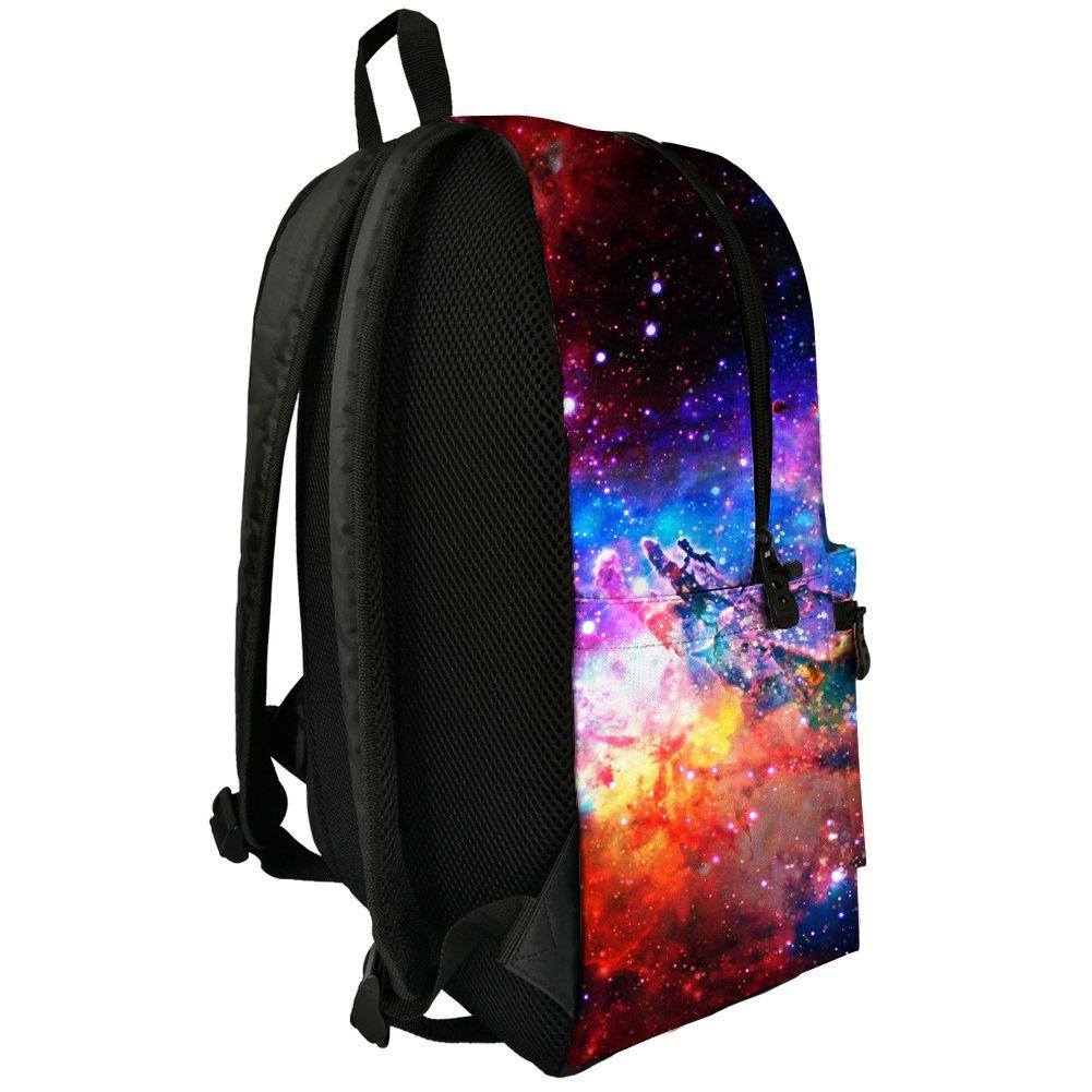 Galaxy Space Print Durale Kids Canvas Bookbag Back to School