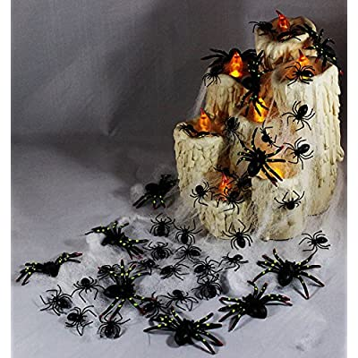 Toner Depot 144 Pieces Plastic Realistic Bugs - Fake Cockroaches, Spiders, Scorpions and Worms for Halloween Party Favors and Decoration.: Toys & Games