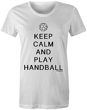 KEEP CALM and play Handball ☆ Rundhals-T-Shirt Frauen-Damen ☆ hochwertig