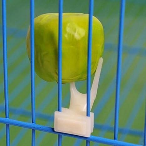 dontdo Soporte para Jaula de Pájaros de plástico para Horquilla de ...