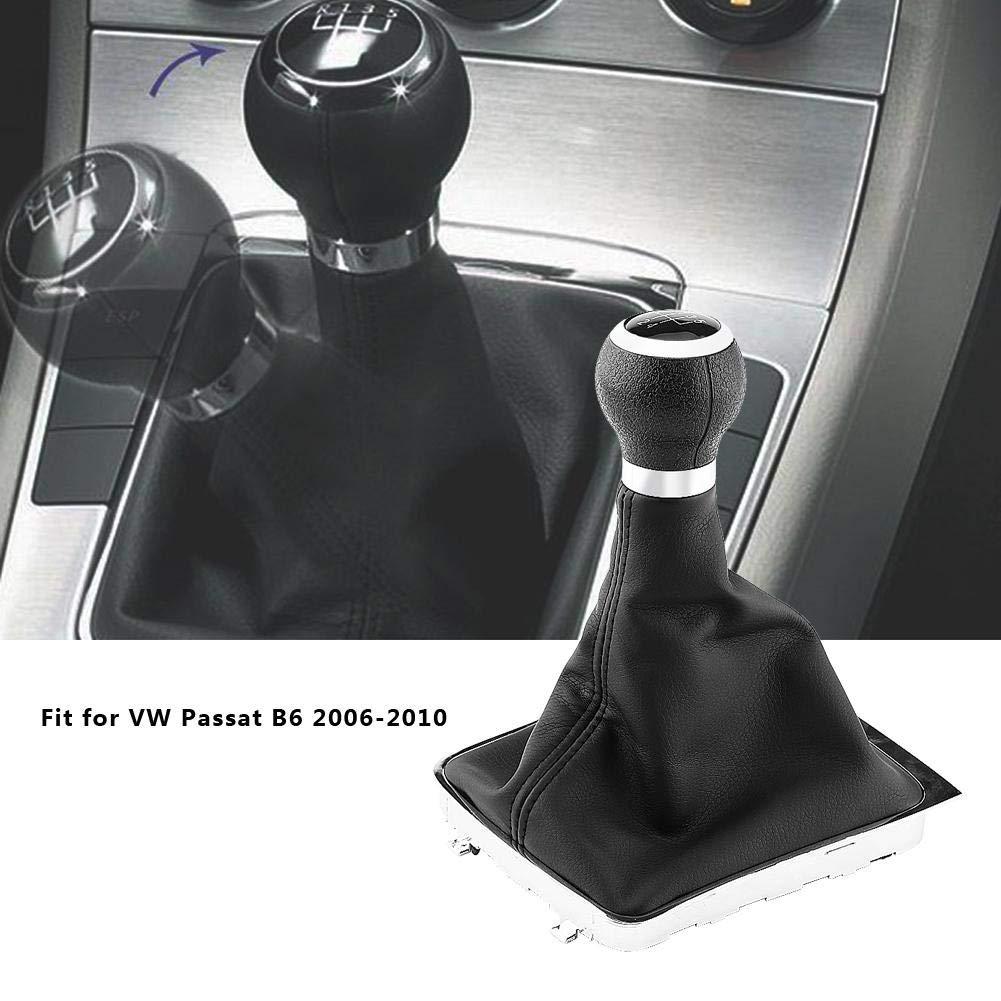 negro 5 velocidades Pomo de cambio manual de 5 marchas piel para palanca de cambios protector de repuesto antipolvo