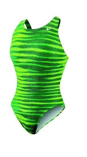 Nike Foil Skin Fast Back Tank Team Swimsuit - TFSS0007 - 300 Green Size-22