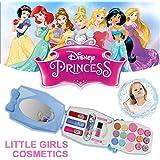 QIN 子供用化粧品おもちゃ 女の子 メイクボックス 32ピース ディズニースノープリンセス キッズ メイクセット 女の子コスメ玩具  子ども用メイクアップセット  児童 おしゃれセット 無毒 安全 (H)