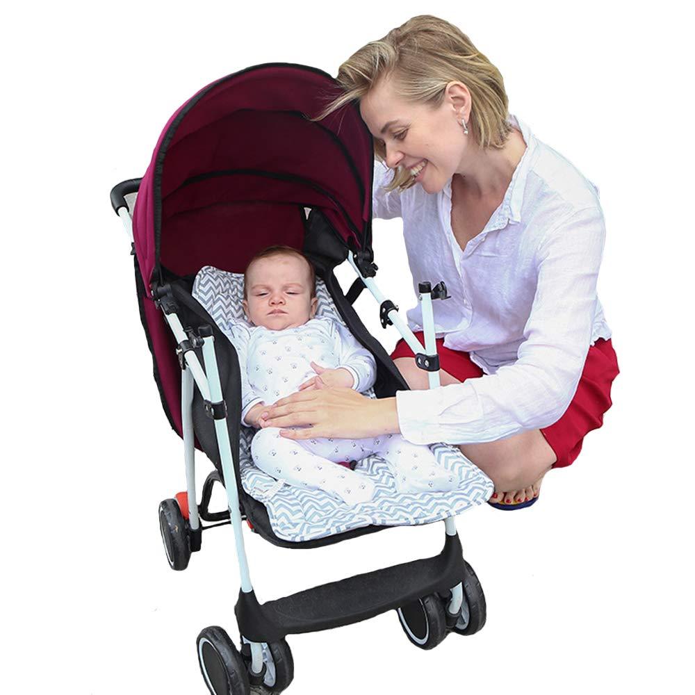 Flamingo Kinderwagen Pad Neugeborene Kinderwagen Autositz Liner Tragbare Wickelauflage Universal Cotton Cushion Padding Wendbare Sitzauflage f/ür S/äuglinge