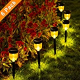 SMY Solar Pathway Lights,6 Pack Solar Outdoor Lights,Garden Lights Outdoor Landscape Lighting for Lawn,Yard,Patio, Pathway,Walkway,Warm White Review