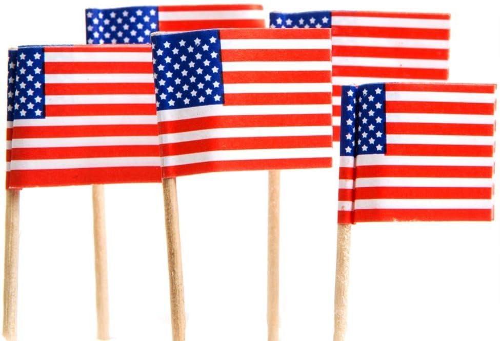 Lot Of 144 American Flag Patriotic Theme Food Toothpicks