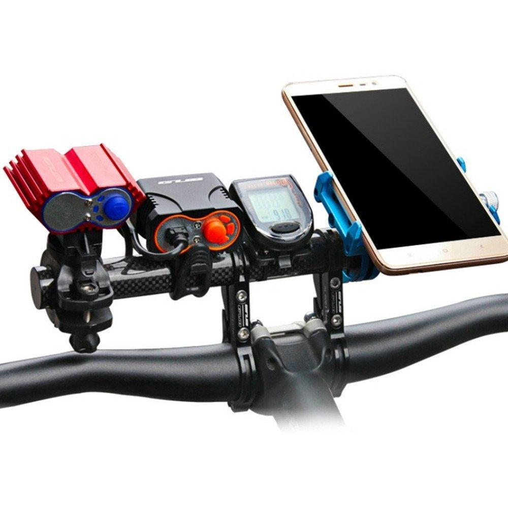 welinks 20/cm Doppel-Klammer Carbon Fiber Bike Fahrrad Lenker Verl/ängerung Licht Lampe Bike Mount Phone Halter Halterung St/änder Monitorhalterung f/ür schwarz Taschenlampen Tachometer