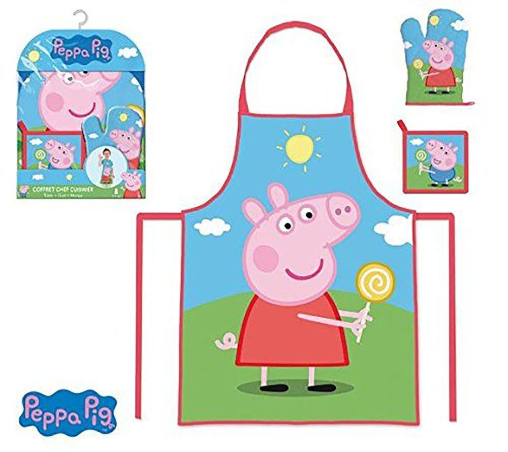 Peppa Pig Kids Set of Apron, Glove and Napkin SU-PEA102466