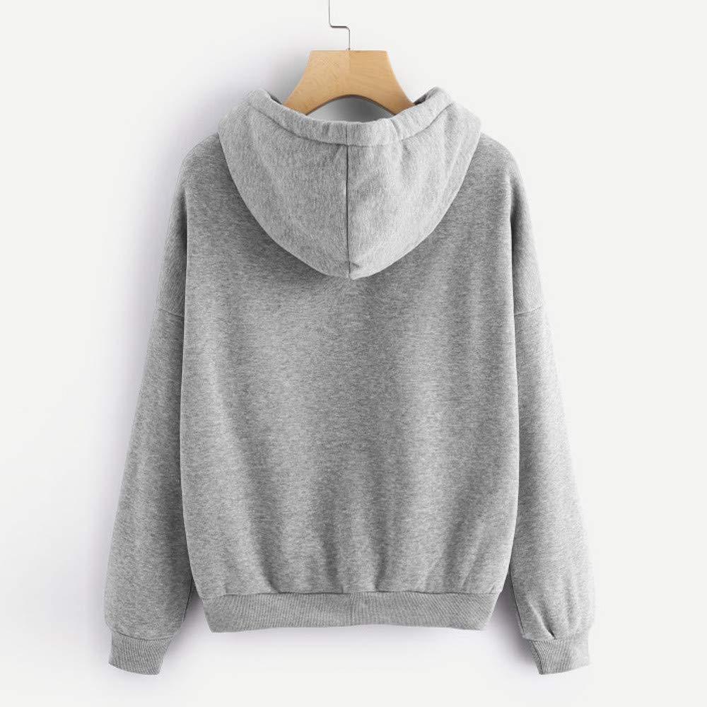 ❤ Sudadera con Capucha para Mujer, Planet Printed Long Sleeve Jumper Pullover Tops Blusa Absolute: Amazon.es: Ropa y accesorios