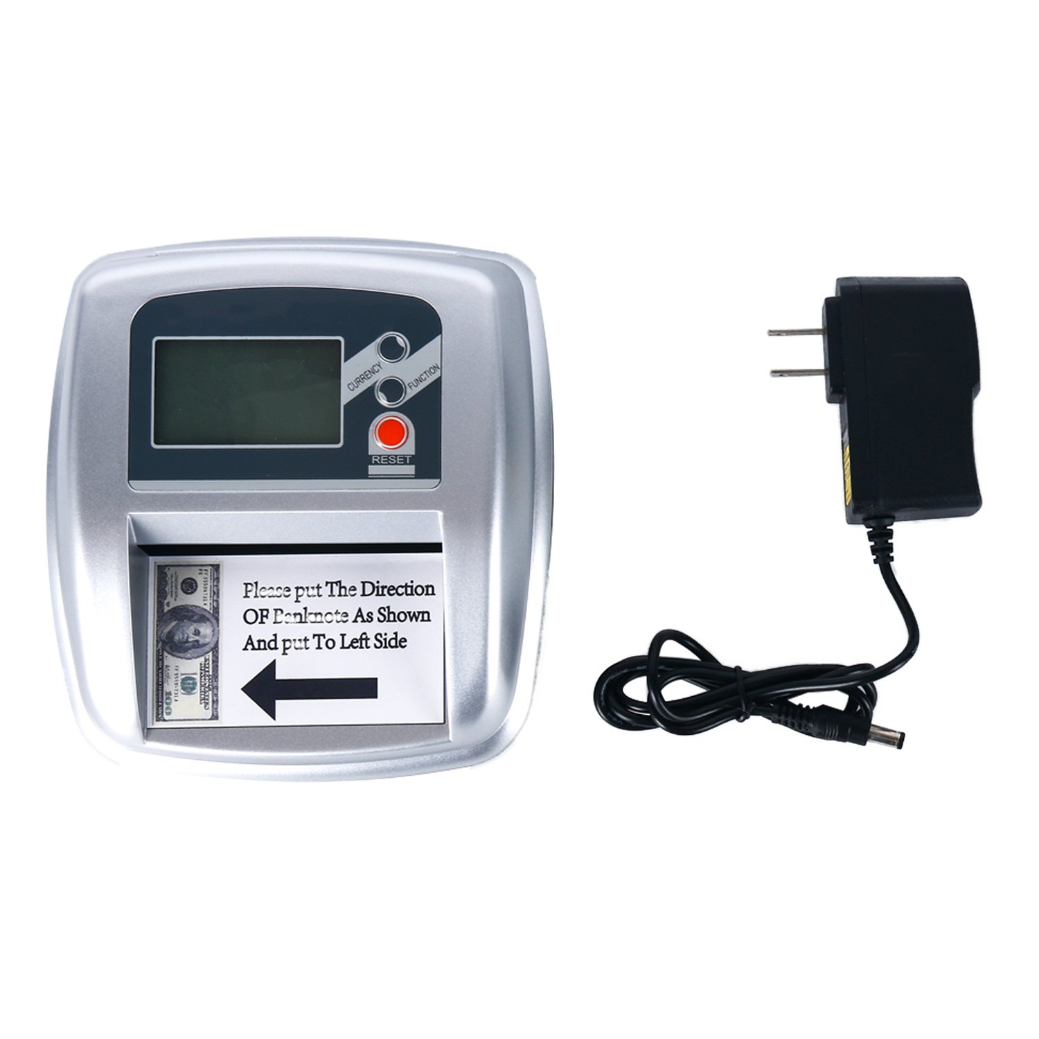 Yaegoo 2-in-1 Counterfeit Money Detector and Bill Counter with UV, MG and IR Detection