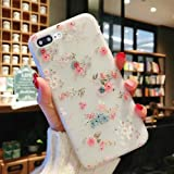 Enflamo 3D Soft TPU Flower Pattern Printed Back Cover for iPhone 7 Plus/8 Plus (White)