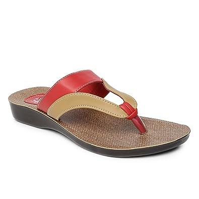 79986d18273 PARAGON SOLEA Women s Red Flip-Flops  Buy Online at Low Prices in ...