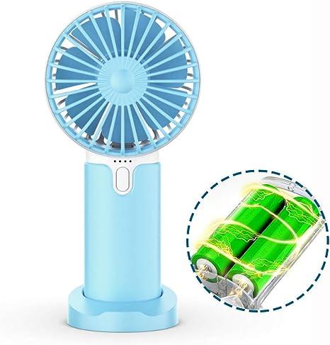Color : Coffee Fan Handheld USB Fan Charging Portable Mute Desktop Fan Phone Bracket Table Fan Strong Wind Outdoor Bedroom Mini Portable Cooling Fan