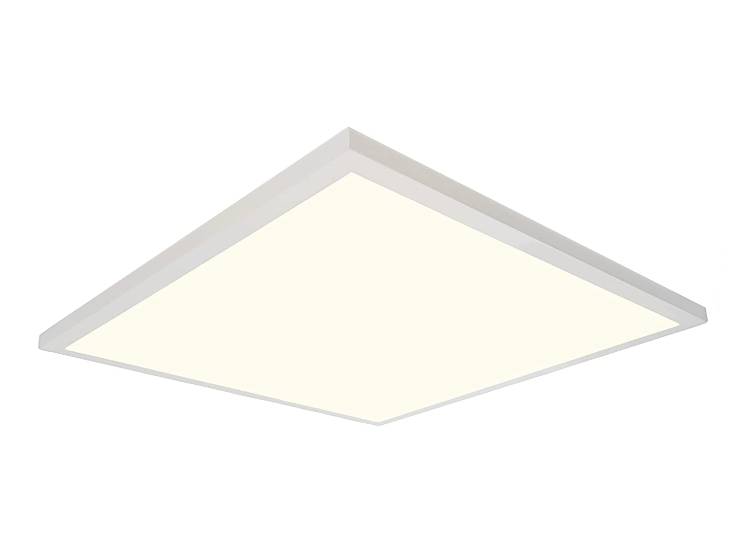 Designers fountain pf2240xmd27 2700k led panel 2 x 2 ultra thin edge lit 40w flat light residential flushmount surface mount commercial drop ceiling