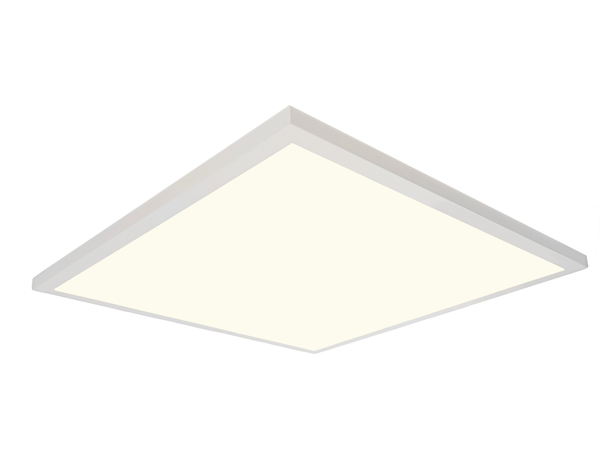 Designers Fountain PF2240XMD27 2700K LED Panel 2' X 2' Ultra Thin Edge-Lit 40W Flat Light Residential Flushmount Surface Mount/Commercial Drop Ceiling Fixture 4000 Lm-2700 Cct, 2'X2' , White