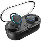 JINDUN True Wireless 5.0 Bluetooth Earbuds with Powerful Bass and Crystal-Clear Stereo, 5H Continuous 30H Cycle Time…