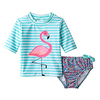 0d9f901a3144c CC Carter s Striped Flamingo Rashguard  amp  Ditsy Flower Swimsuit Set -  Girls
