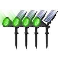(4 Unidades) T-SUN Foco Solar, Impermeable Luces Solares