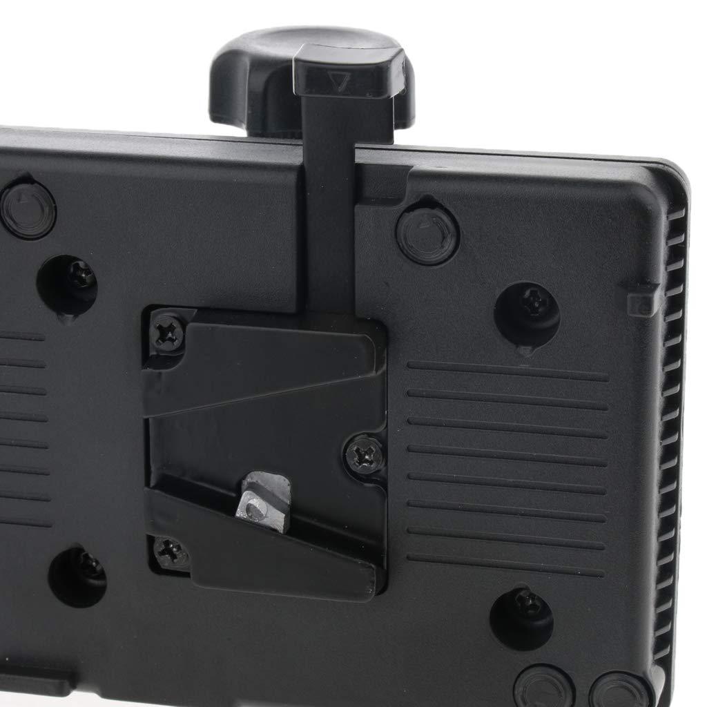 EBTOOLS Adaptador de Placa de Alimentaci/ón de Bater/ía con Montaje en V con D-Tap y Abrazadera para C/ámara de Video Sony DSLR Negro