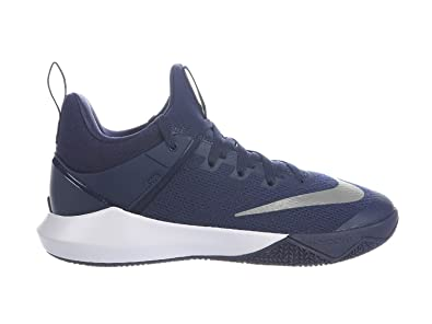 size 40 38653 d9865 NIKE Men s Zoom Shift Midnight Navy White Nylon Basketball Shoes 7.5 D(M)