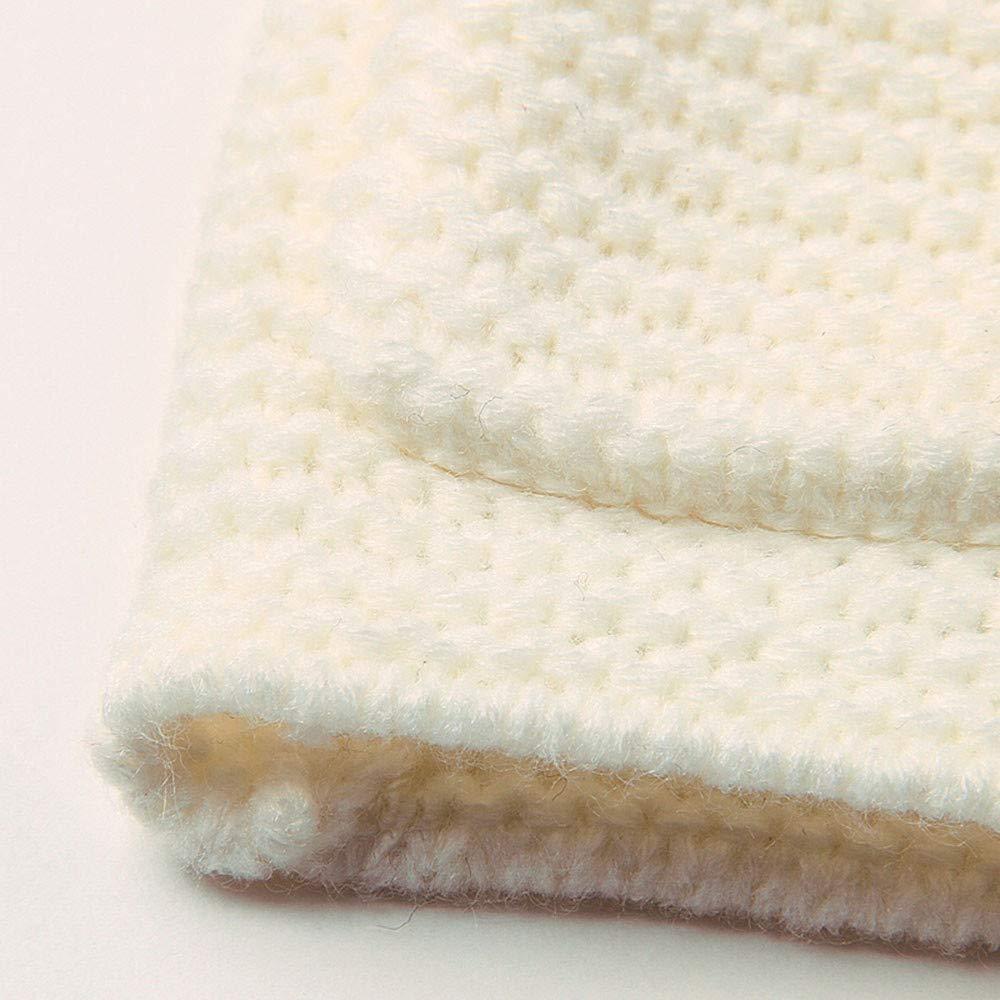 Ropa Bebe Unisex Invierno Zolimx 0-24 Meses Beb/é Ni/ños Ni/ñas Reci/én Nacidos Collar de Piel con Capucha de Punto Tops Ropa de Abrigo Caliente