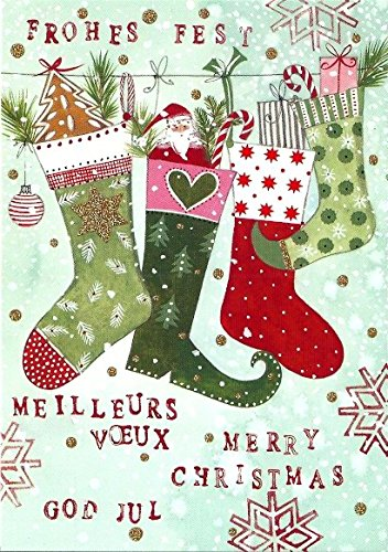 christmas card postcard kerstin hess stocked socks mica lacquer amazon co uk office products