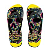 Men's Flash Skull Pattern Casual Unisex Soft Flippers Flip Flops