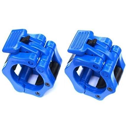 GFULLOV - 1 par de Cierres para Mancuernas olímpicas de 50 mm, Azul, Tamaño