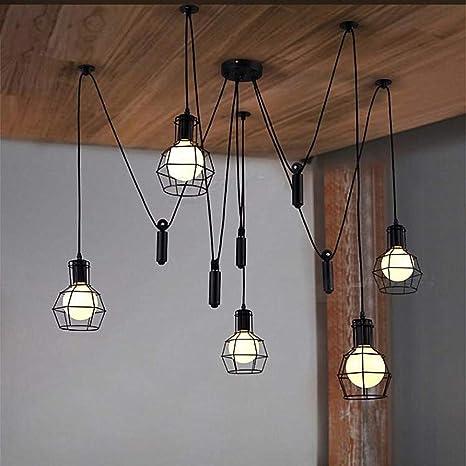 Amazon.com: Ladiqi - Lámpara de techo con colgante de polea ...