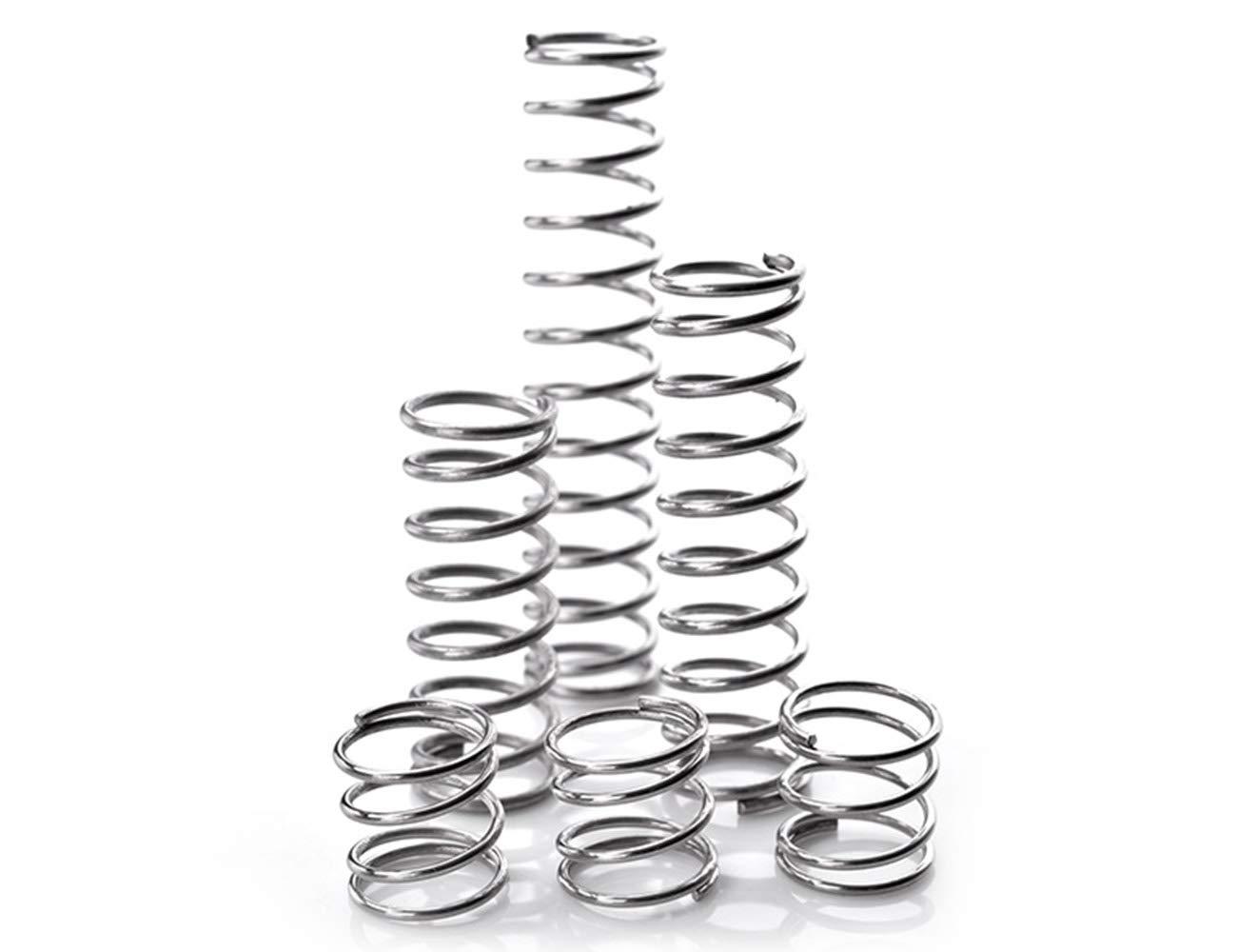 5Pcs Steel Compression Springs Silver Tone 0.02x0.24x0.39