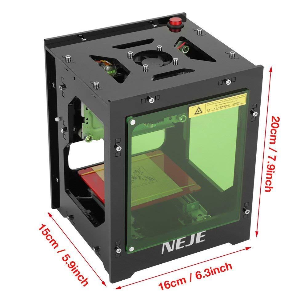Qiilu Laser Graviermaschine 1500mw Gravur USB Drucker Lasergravierer Mit Augenschutz Magnetfolie Fu R Win XP