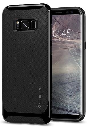 Spigen Funda Galaxy S8, Carcasa [Neo Hybrid] Protección Interna Flexible y Marco Reforzado de Parachoques Duro para Galaxy S8 (2017) - Negro Brillante