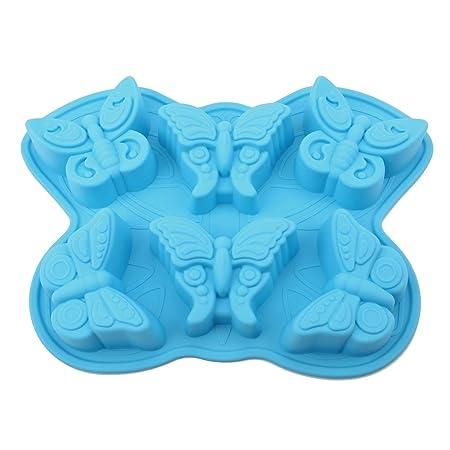 PingZhi G-18 mariposa de 6 cavidades silicona molde para jabón ...