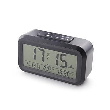 [Versión de actualización] Reloj despertador inteligente con 3 alarmas, con voz, ajuste