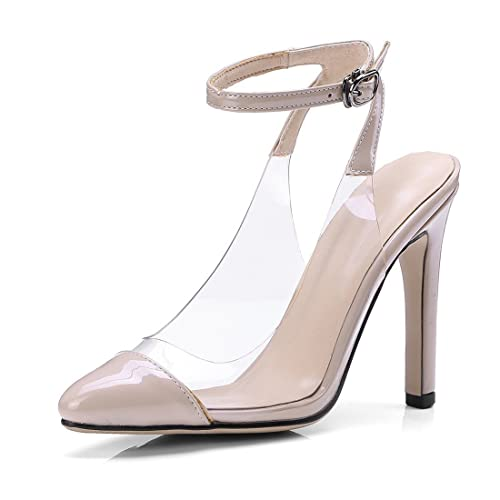 7d200b0a8667 Heels Sandals Ankle Strap Sandals Open Toe Sandals Women s Sandals Ladies   Night Club high Heel Shoes with Transparent Leather Lacquer