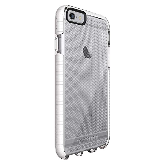 best service 976c5 4a6a2 Tech21 Evo Mesh Slim Cover Case for Apple iPhone 6 Plus / 6S Plus Clear/Grey
